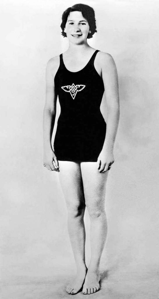 Maria Lenk durante sua juventude - Foto: Reprodução