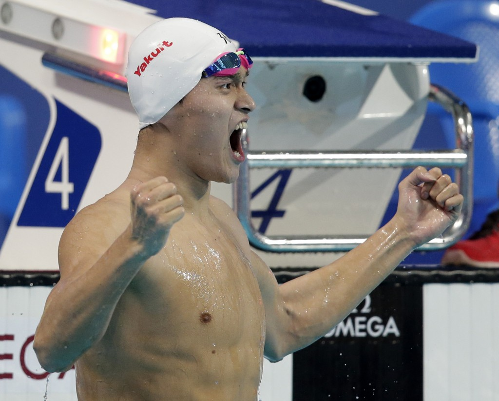 O chinês Sun Yang - Foto: Michael Sohn/Associated Press