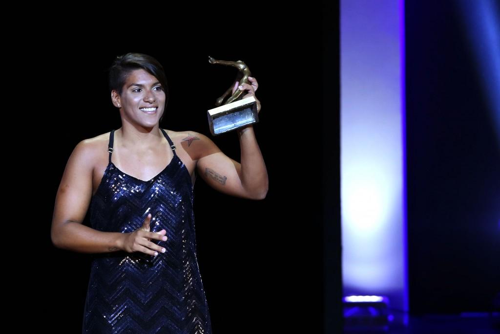Ana Marcela Cunha no Prêmio Brasil Olímpico 2014 - Foto: Satiro Sodre/SSPress
