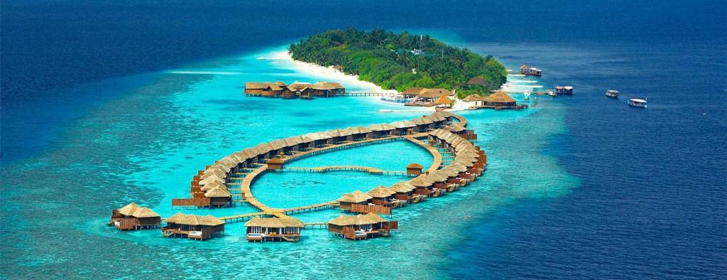Vista de resort nas Ilhas Maldivas - Foto: Reprodução