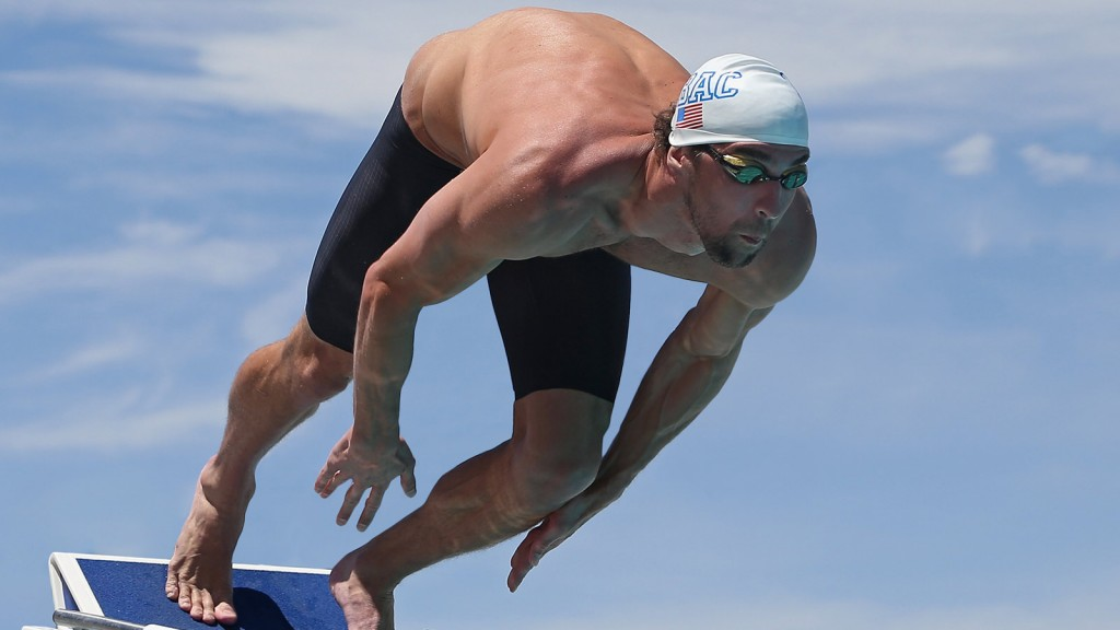 Phelps quer testar sua velocidade na competição - Foto: Omega Watches