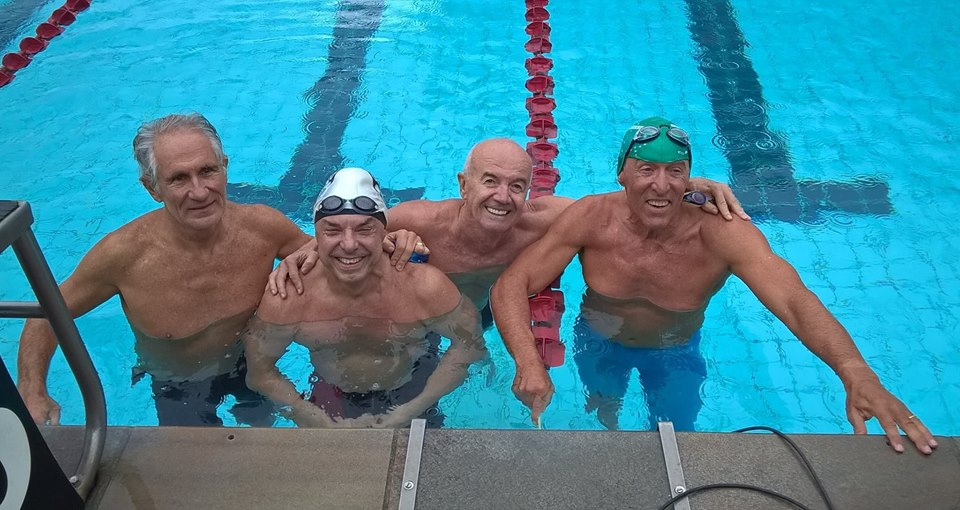 O novo revezamento 4x100m medley recordista - Foto: Paulo Rezende