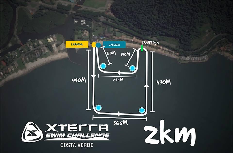 Mapa do percurso da prova – Foto: XTerra/Reprodução
