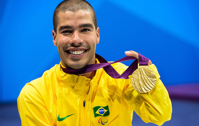 Daniel Dias com medalhas de Londres-2012 – Foto: Buda Mendes/CPB