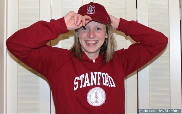 Ledecky irá estudar em Stanford – Foto: Reprodução
