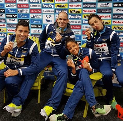 Os medalhistas brasileiros - Foto: Reprodução