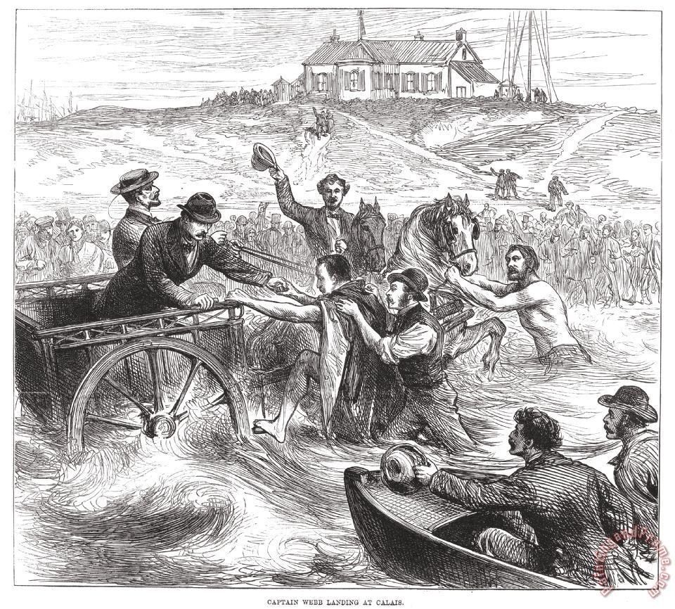 Pintura mostra como teria sido o desembarque de Webb em Calais – Foto: Reprodução