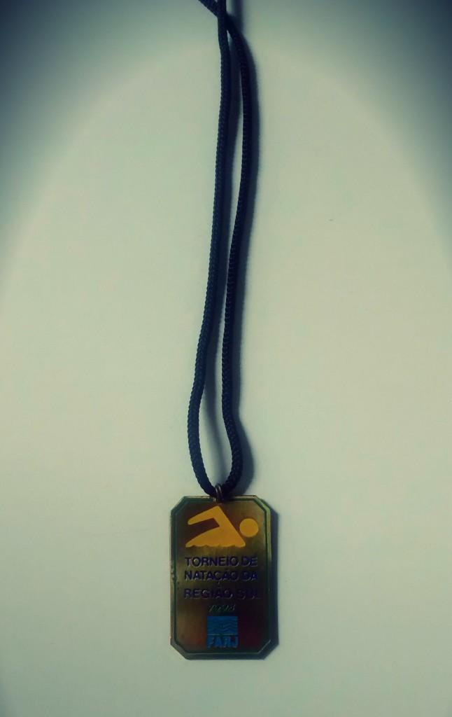 Foto da primeira medalha da carreira de Thiago Pereira – Foto: Guilherme Freitas/Swim Channel