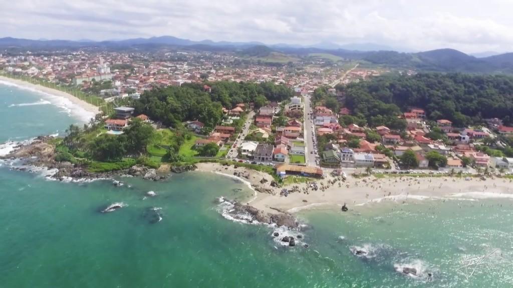 Vista aérea da Praia do Grant - Foto: Reprodução