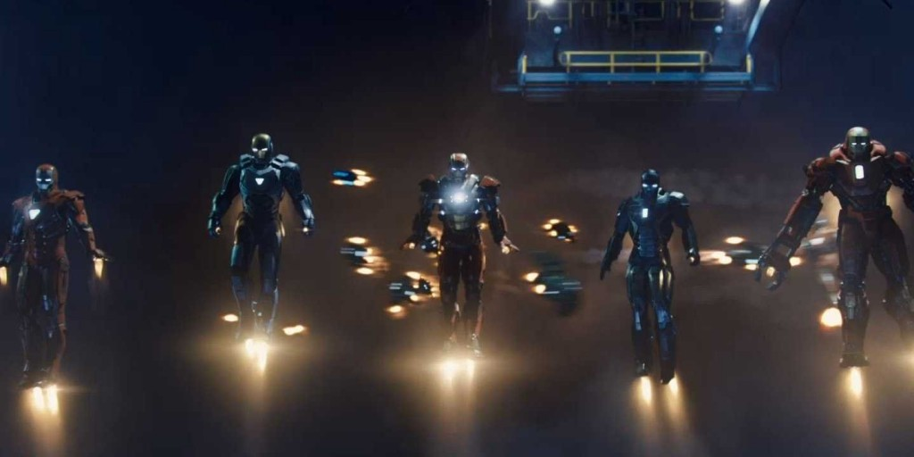 a guerra das armaduras em homem de ferro 3