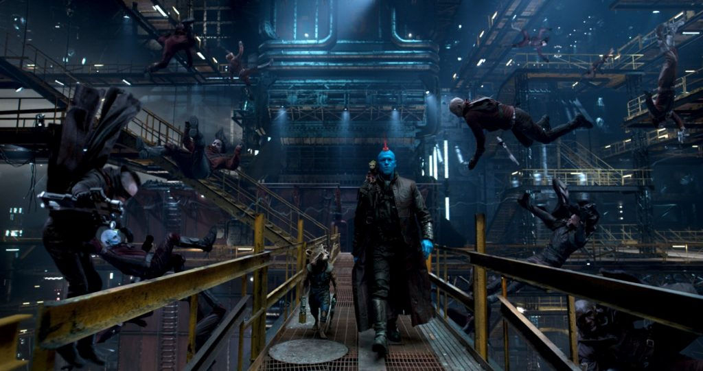 Guardians Of The Galaxy Vol. 2..L to R: Rocket (Voiced by Bradley Cooper), Groot (Voiced by Vin Diesel), and Yondu (Michael Rooker)..Ph: Film Frame..©Marvel Studios 2017