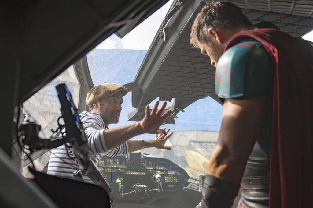 Marvel Studios Thor: Ragnarok..On set with Director Taika Waititi and Chris Hemsworth (Thor)..Photo: Jasin Boland..©Marvel Studios 2017