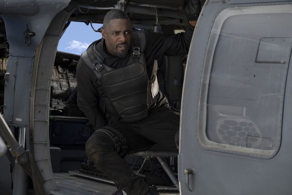 Idris Elba as Brixton Lorr in Fast & Furious Presents: Hobbs & Shaw, directed by David Leitch.