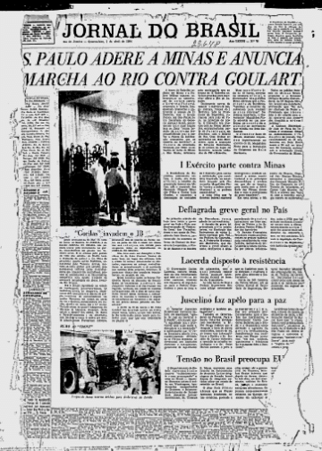 press - jornal do brasil - 1 de abril de 1964