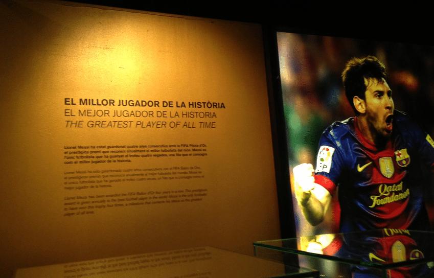 Museu do Barcelona, no Camp Nou, em 2014