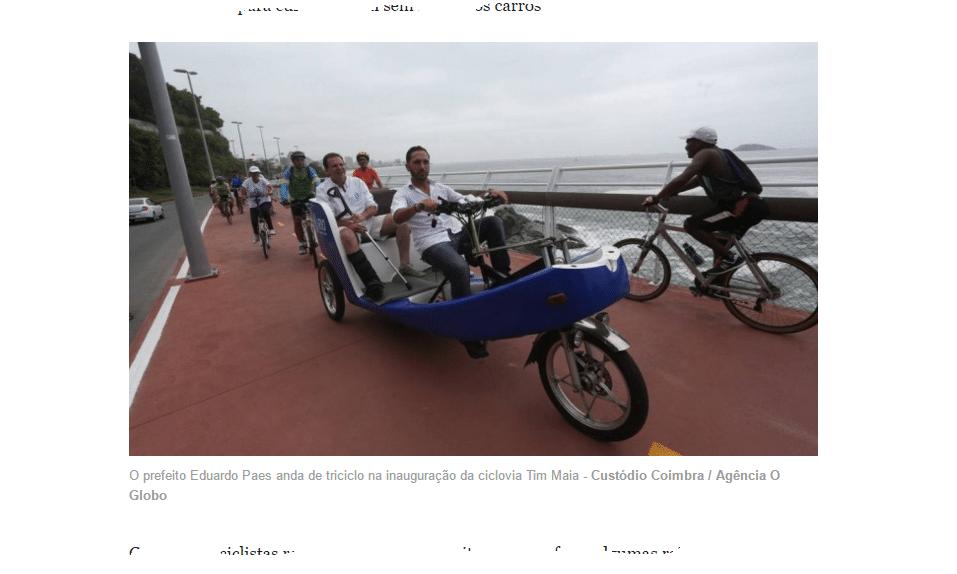 blog - eduardo paes inaugura a ciclovia