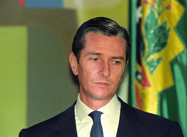 Fernando Collor, ainda presidente, em 1992 – Foto Lula Marques/Folhapress