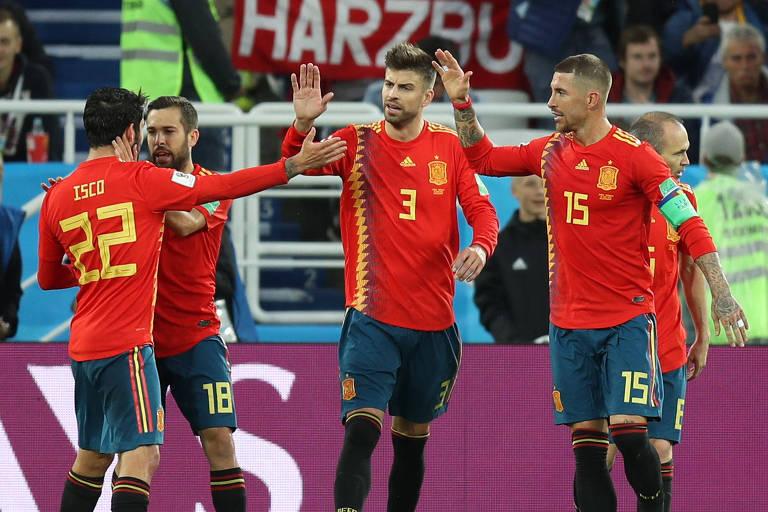 3f3d5fe732 A chave espanhola rumo à final tem uma espécie de mini Euro. São sete  seleções europeias mais a Colômbia