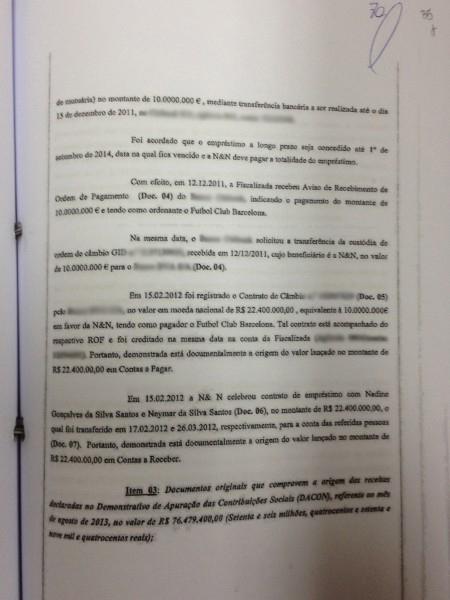 Documento mostra que a N & N (Fiscalizada) acusou o recebimento de € 10 milhões em sua conta em 12/12/2011. O dinheiro estava disponível na conta da empresa, mas o câmbio só foi feito em fevereiro de 2012.
