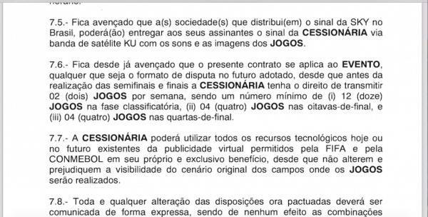 Número de jogos da Libertadores a que a Globo tem direito na TV Aberta