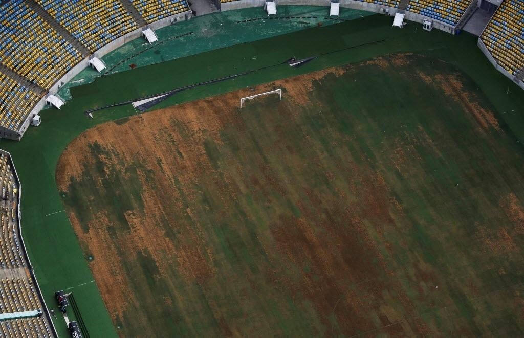 Imagem aérea do Maracanã assustou torcedores. Imagem: REUTERS/Nacho Doce
