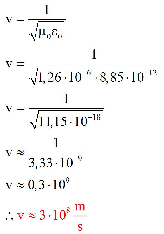 Velocidade das ondas eletromagnéticas
