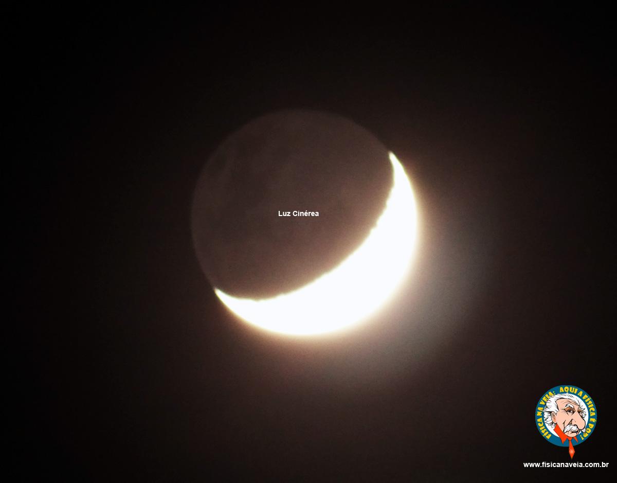 A Lua Minguante e a luz cinérea.