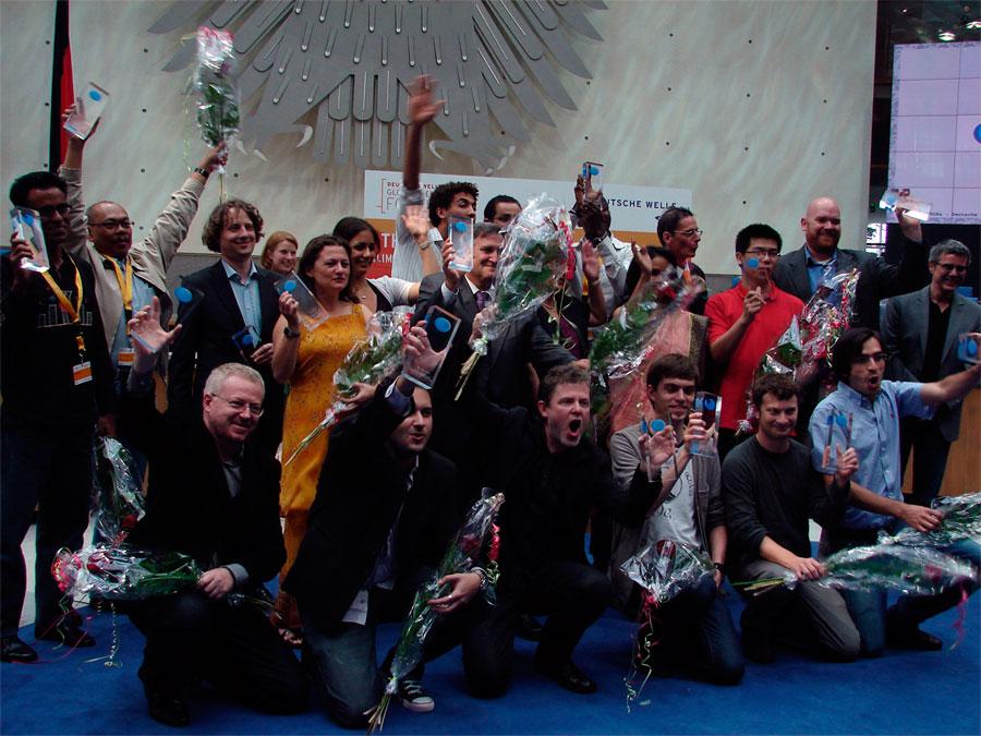 Todos os blogueiros premiados no The BOBs 2010