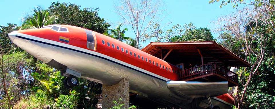 Avião que virou hotel na Costa Rica