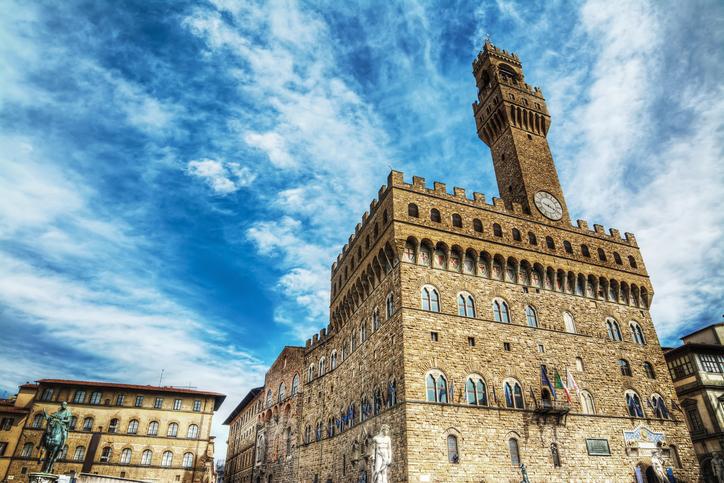 Palazzo Vecchio in Piazza della Signoria in Florence, Italy