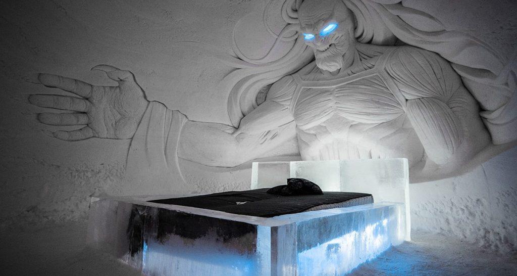 Tem Na Web - Hotel de gelo ganha decoração temática de Game of Thrones