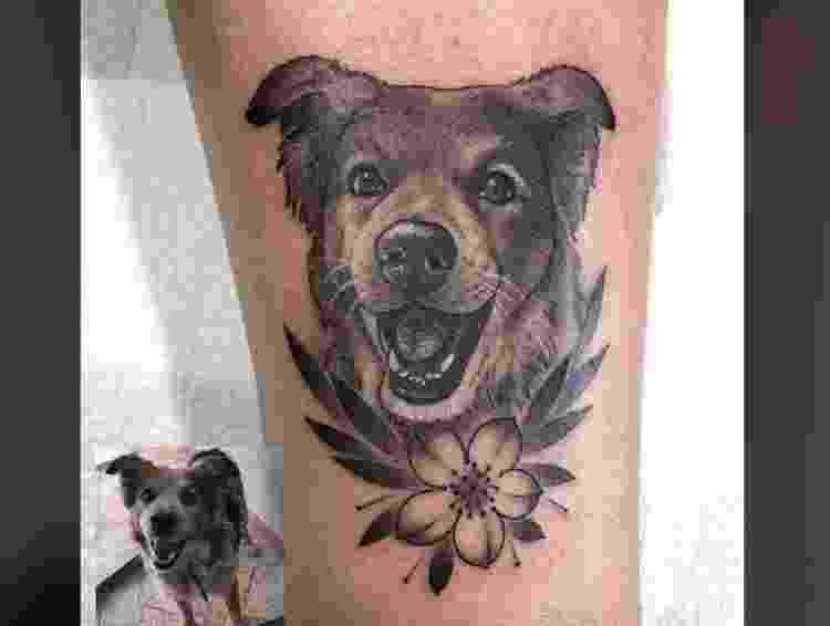 Tatuagem em homenagem a cachorro  - Reprodução/Facebook - Reprodução/Facebook