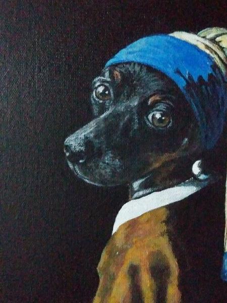 Artista pinta cachorros em obras de arte - Reprodução/Instagram
