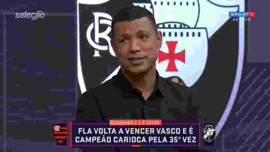 Júnior Baiano: ex-jogador do Flamengo estará em jogo da Libertadores no SBT - Reprodução/Sportv
