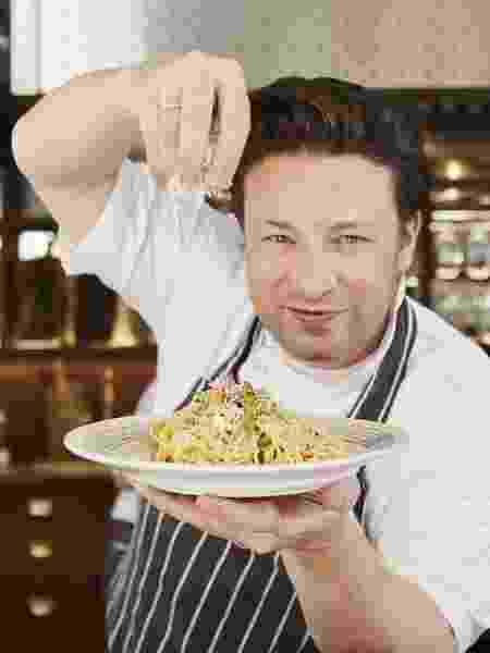 Jamie Oliver, uma das inspirações de Zeca para entrar no mundo da gastronomia - Divulgação - Divulgação