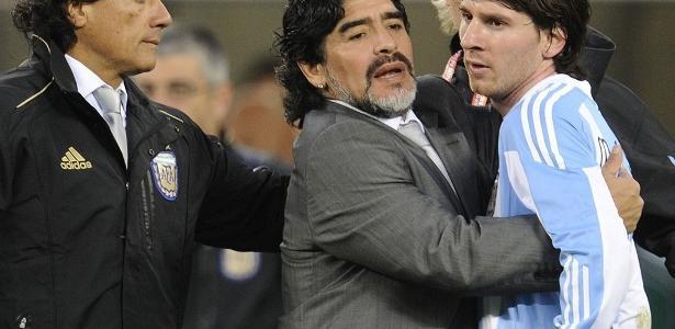 Maradona não poupou críticas a Lionel Messi - false
