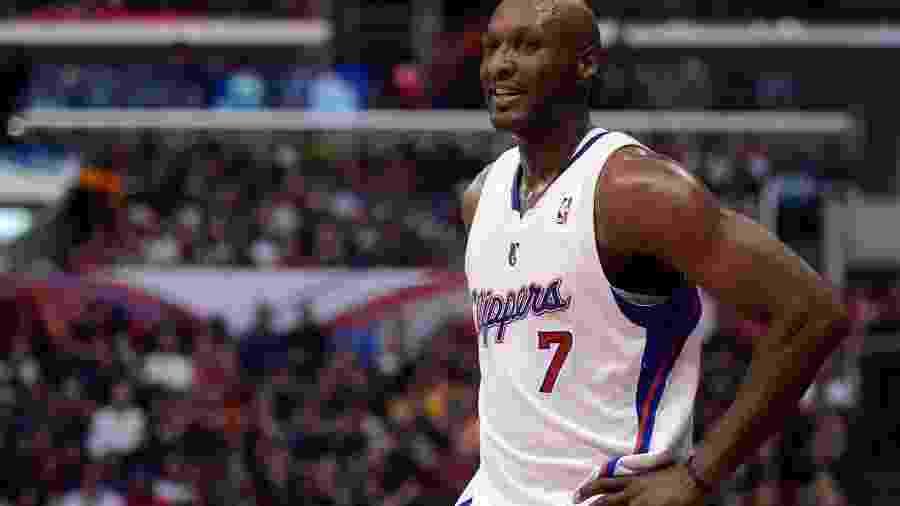 Lamar com a camisa do Los Angeles Clippers em 2012 -