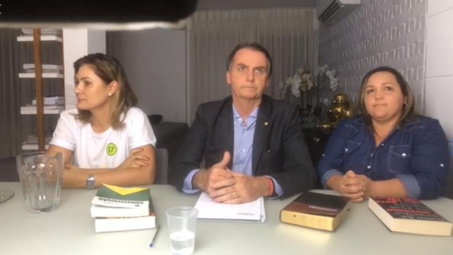 Jair Bolsonaro em seu pronunciamento após ser eleito presidente do Brasil -