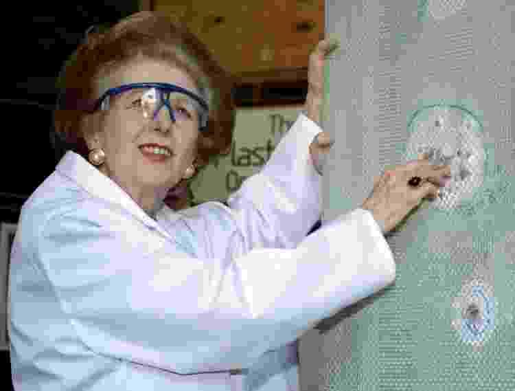 A verdadeira Margaret Thatcher, que foi primeira-ministra entre 1979 e 1990 - Reprodução - Reprodução