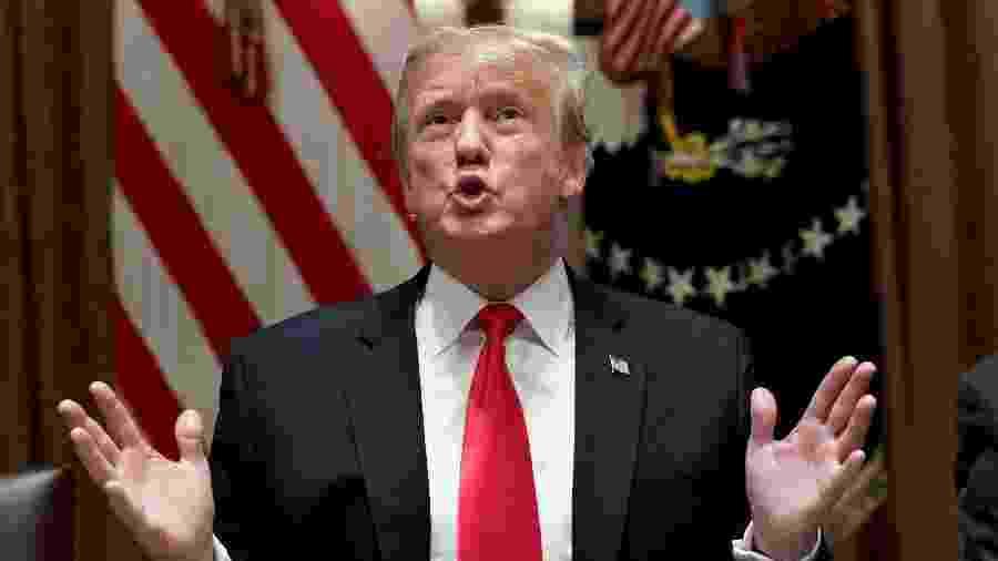 O presidente americano Donald Trump vai lançar uma campanha global com foco nos cerca de 70 países que ainda consideram ilegais as relações entre pessoas do mesmo sexo - Kevin Lamarque/Reuters