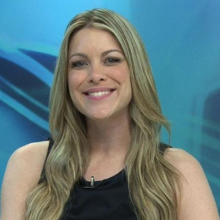"""A apresentadora do """"Jogo Aberto"""", Renata Fan - false"""