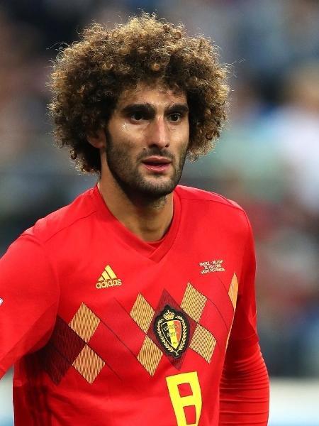 Fellaini atuando pela Bélgica na Copa do Mundo de 2018 -