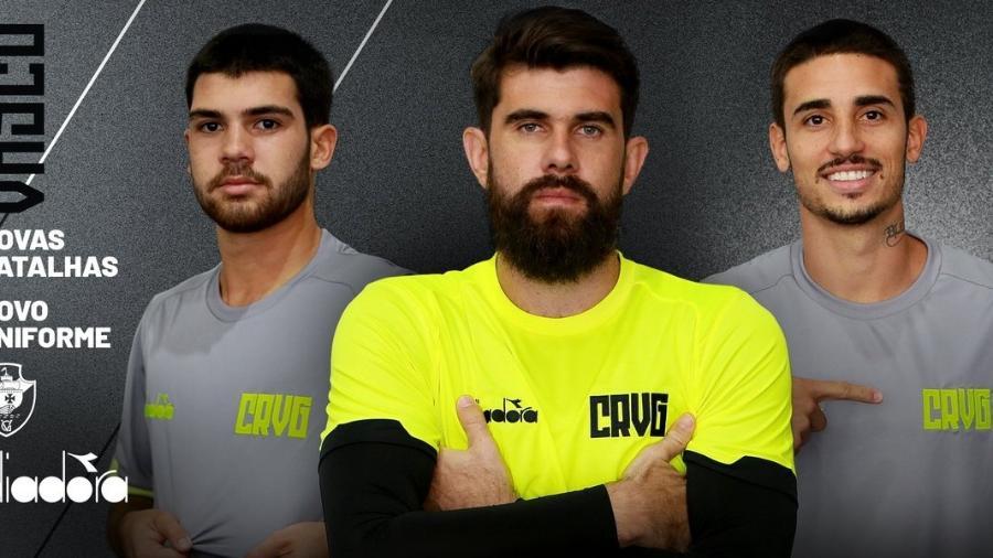 Na semana em que lançou o novo uniforme de treino, o Vasco fechou mais dois patrocínios - Divulgação
