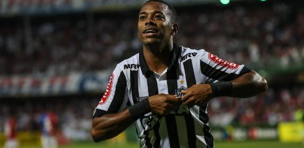 Robinho não participou do último treino do Atlético-MG antes do jogo com o Paraná