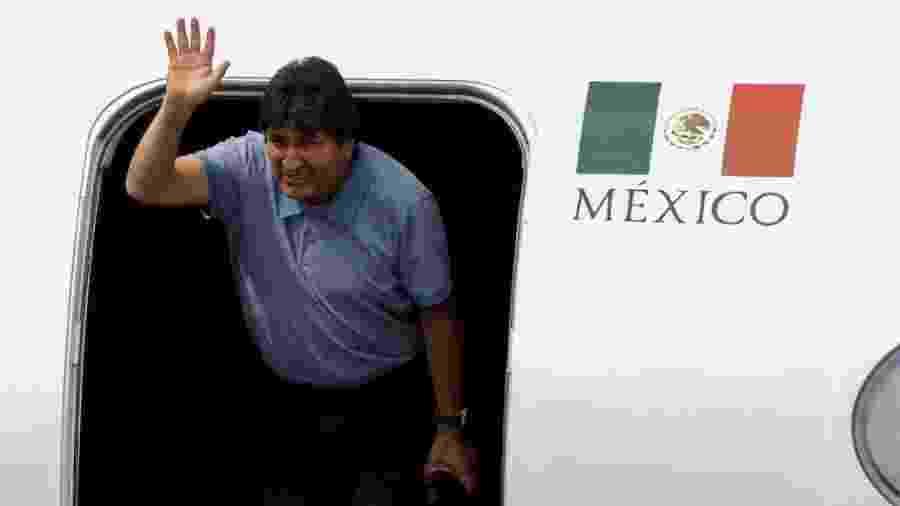 Evo Morales chega à Cidade do México -