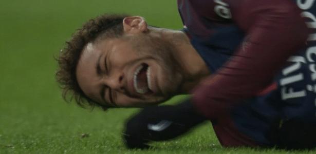 Neymar sofreu uma lesão no tornozelo direito no último domingo (25)