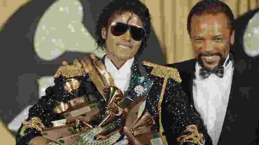 Michael Jackson e Quincy Jones -