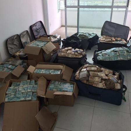 PF encontrou R$ 51 milhões em malas e caixas em um apartamento do ex-ministro Geddel Vieira Lima, em 2017