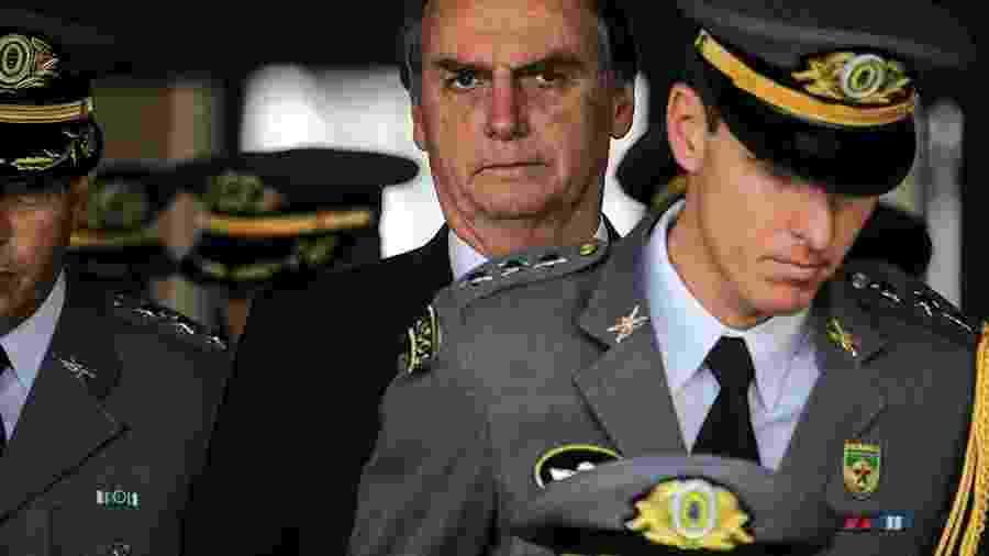 O presidente Jair Bolsonaro: populismo militarista -