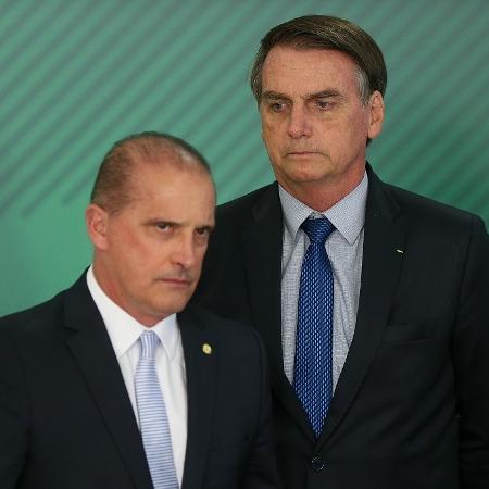 Onyx Lorenzoni (DEM-RS) e Jair Bolsonaro (PSL) -